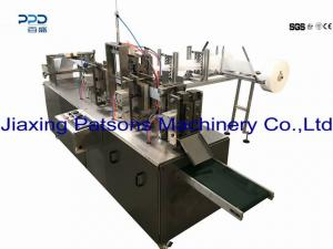 Automatic vertical alcohol swab making machine